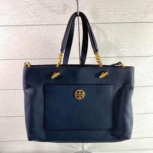 Tory Burch Navy Chelsea Tote Purse
